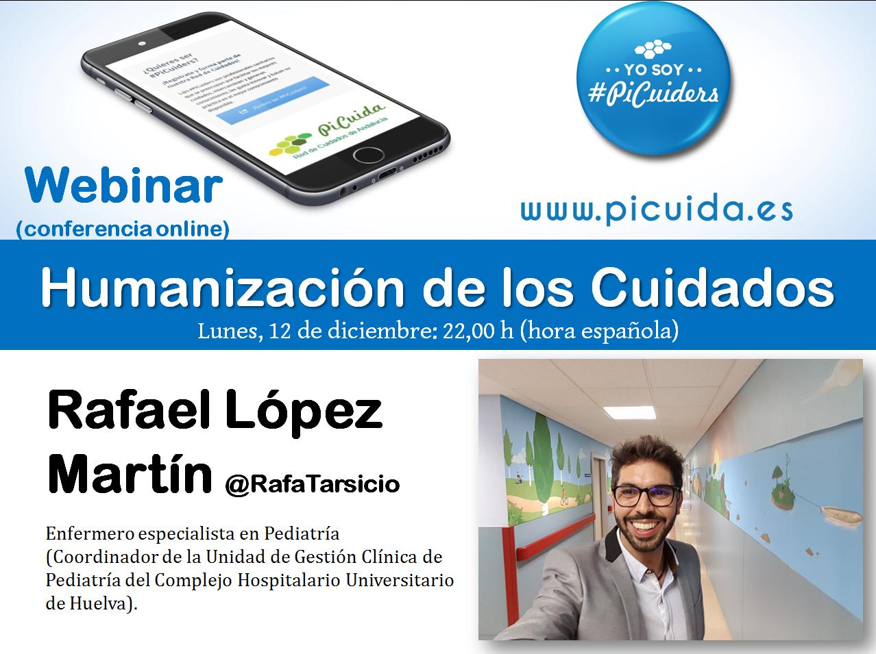 Webinar en #PiCuida sobre Humanización de los cuidados