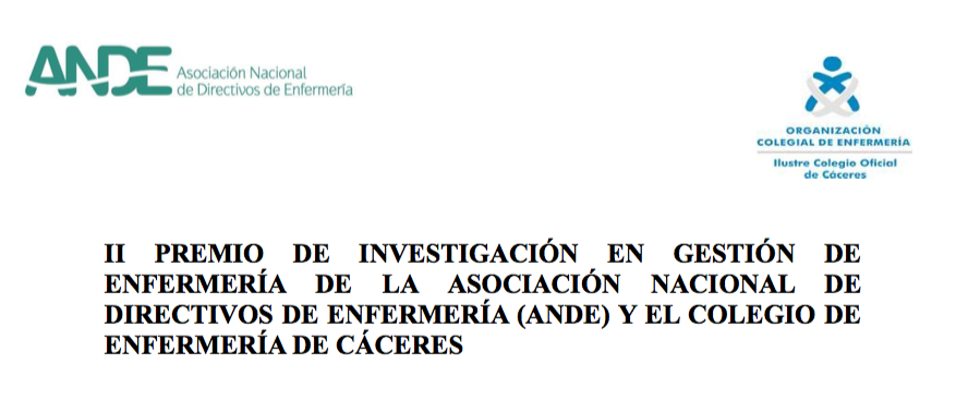 II Premio de Investigación en Gestión de Enfermería