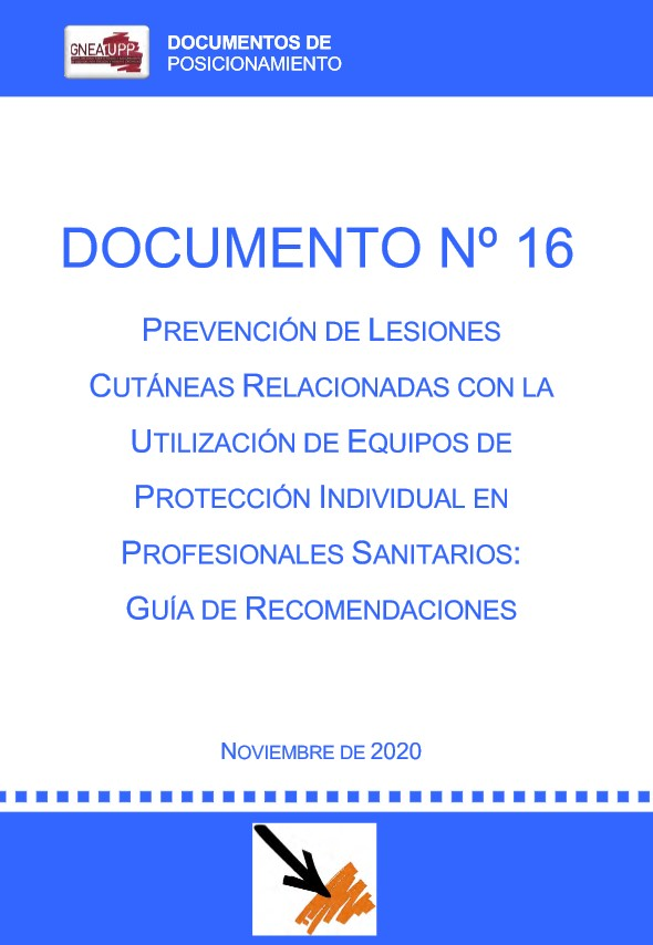 Prevención de lesiones cutáneas relacionadas con la utilización de Equipos de Protección Individual en profesionales sanitarios: guía de recomendaciones