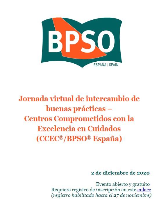 2 de diciembre – Jornada virtual de intercambio de buenas prácticas – Centros Comprometidos con la Excelencia en Cuidados (CCEC®/BPSO®España)
