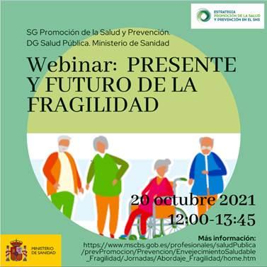 """Webinar """"Presente y futuro de la Fragilidad"""": 20 de octubre"""
